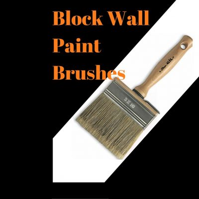 Wooden Handle Block Wall Paint Brushes for Water Based Paint