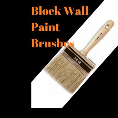 Wooden Handle Block Wall Paint Brushes for Solvent Based Paint