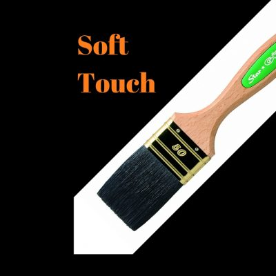 Soft Touch-Wooden Handle