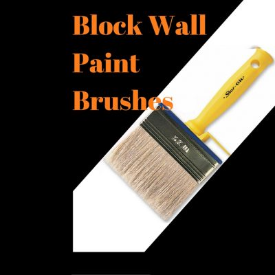Plastic Handle Block Wall Paint Brushes for Water Based Paint